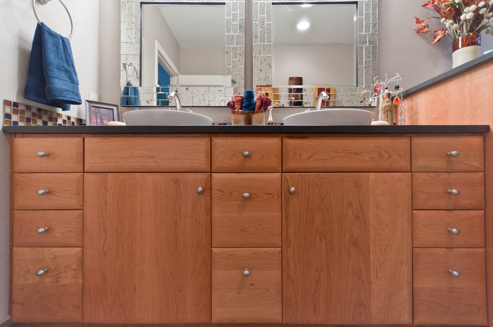 Double Sink Vanity & Cabinetry