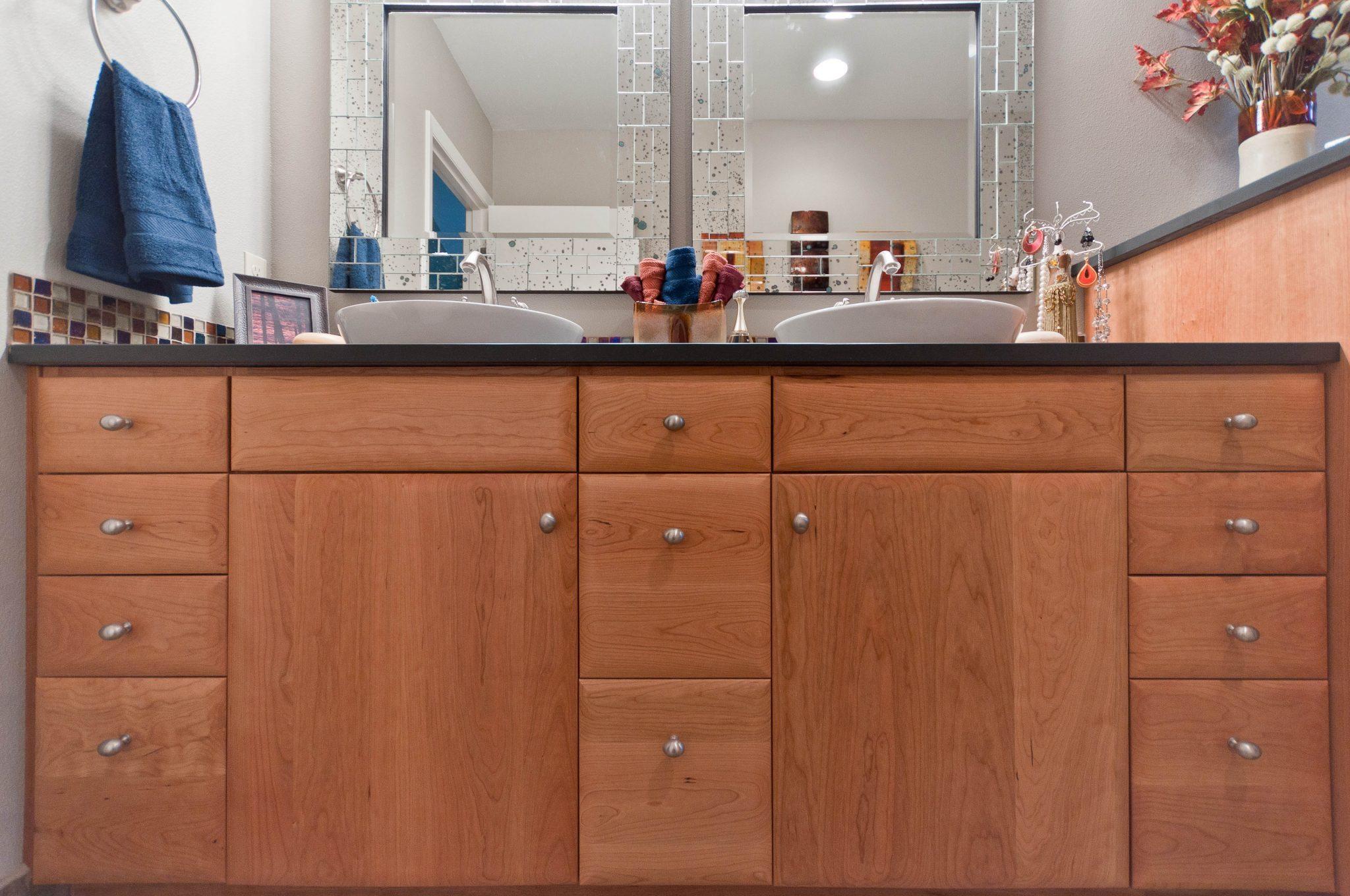 Double Sink Vanity & Cabinetry