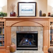 Welcome Santa Through a Beautiful Custom-Built Fireplace