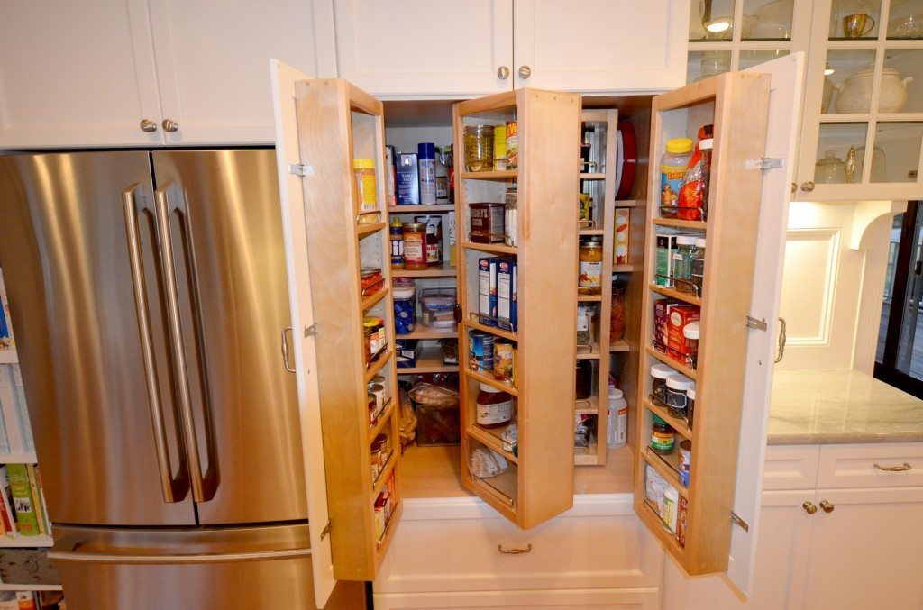 Pantry with door racks & piano hinges