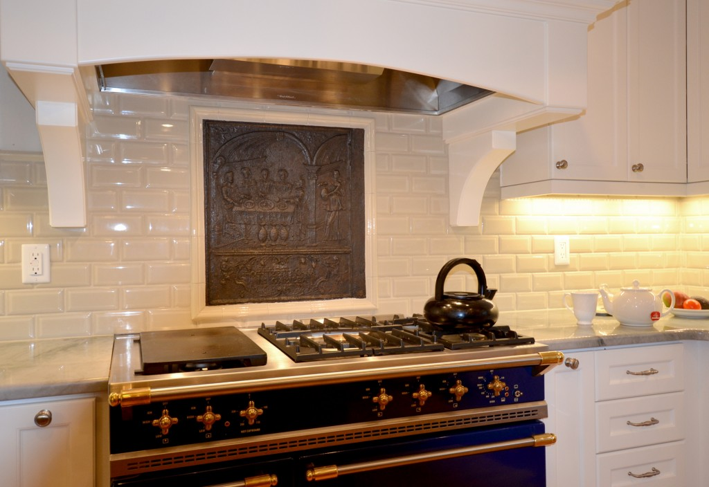 Fire backer backsplash