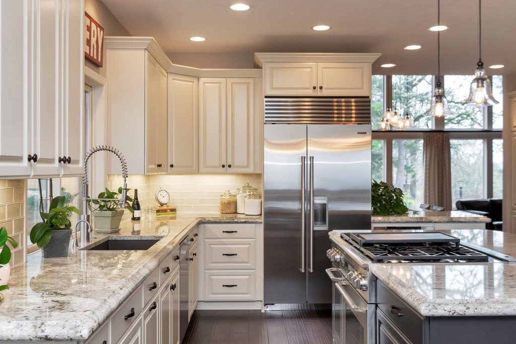 Classic White Kitchen With Modern Accents Dale S