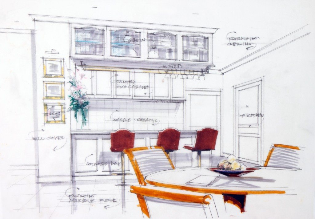 kitchen design sketch perfecting the project process with dale s seven steps 583