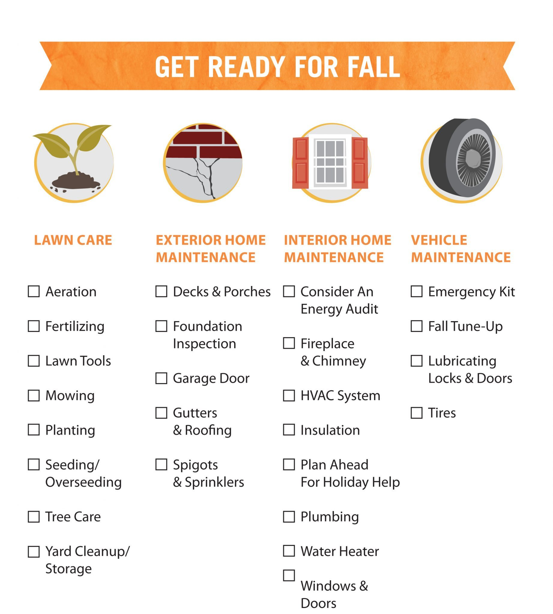 Ten fall home maintenance tips to check off your list for Fall home preparation