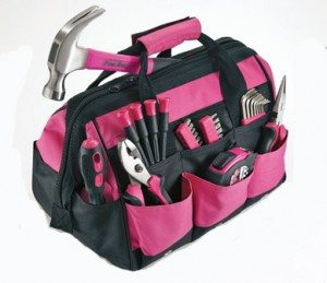 WIN THIS SET OF PINK TOOLS, TOOL BAG AND TOOL BELT! (VALUE OVER $100)