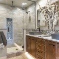Custom-built bathroom vanities