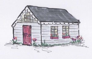 Preliminary sketch by Becky Olsen, Interior Designer