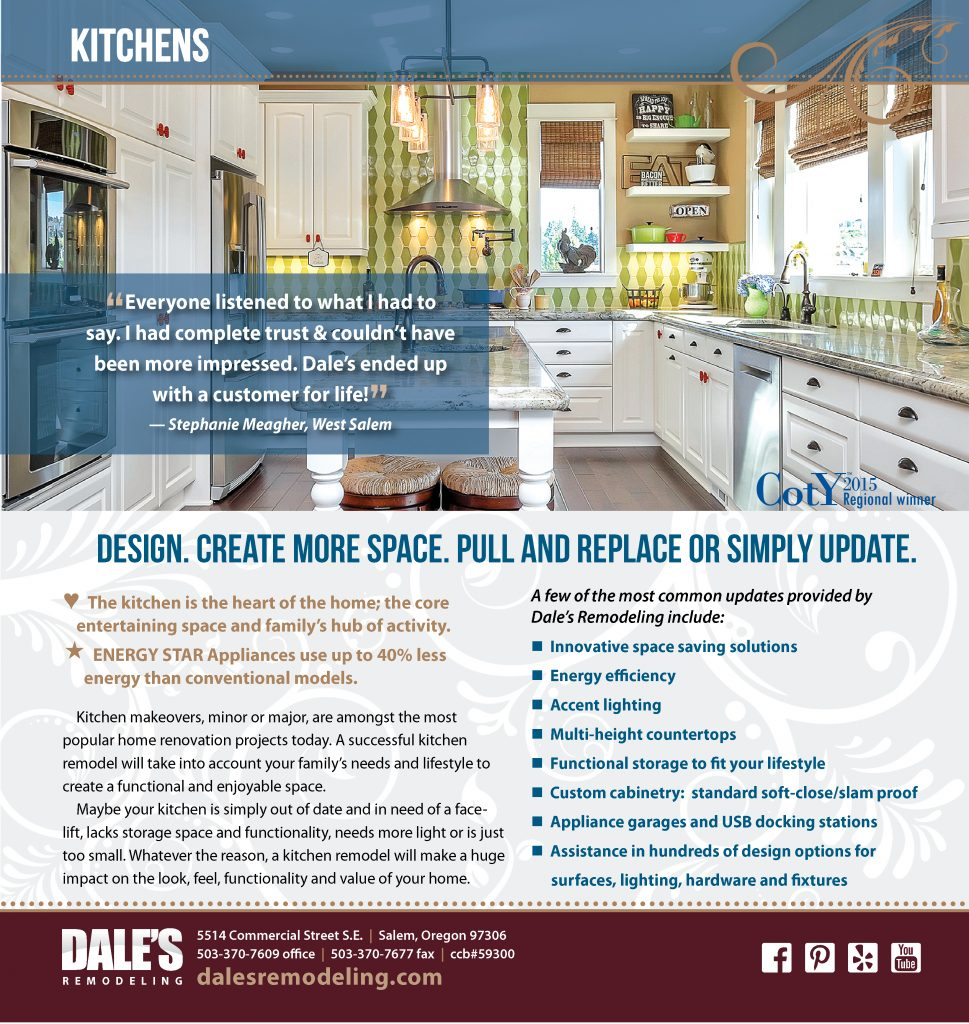 Kitchens | Dale\'s Remodeling Salem Oregon