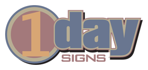 1 day signs logo