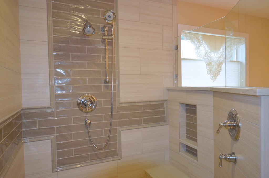walkin bathroom shower remodel Keizer Oregon