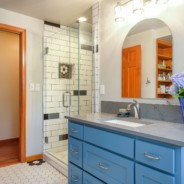 Unique Tilework Bathroom Remodel South Salem, Oregon