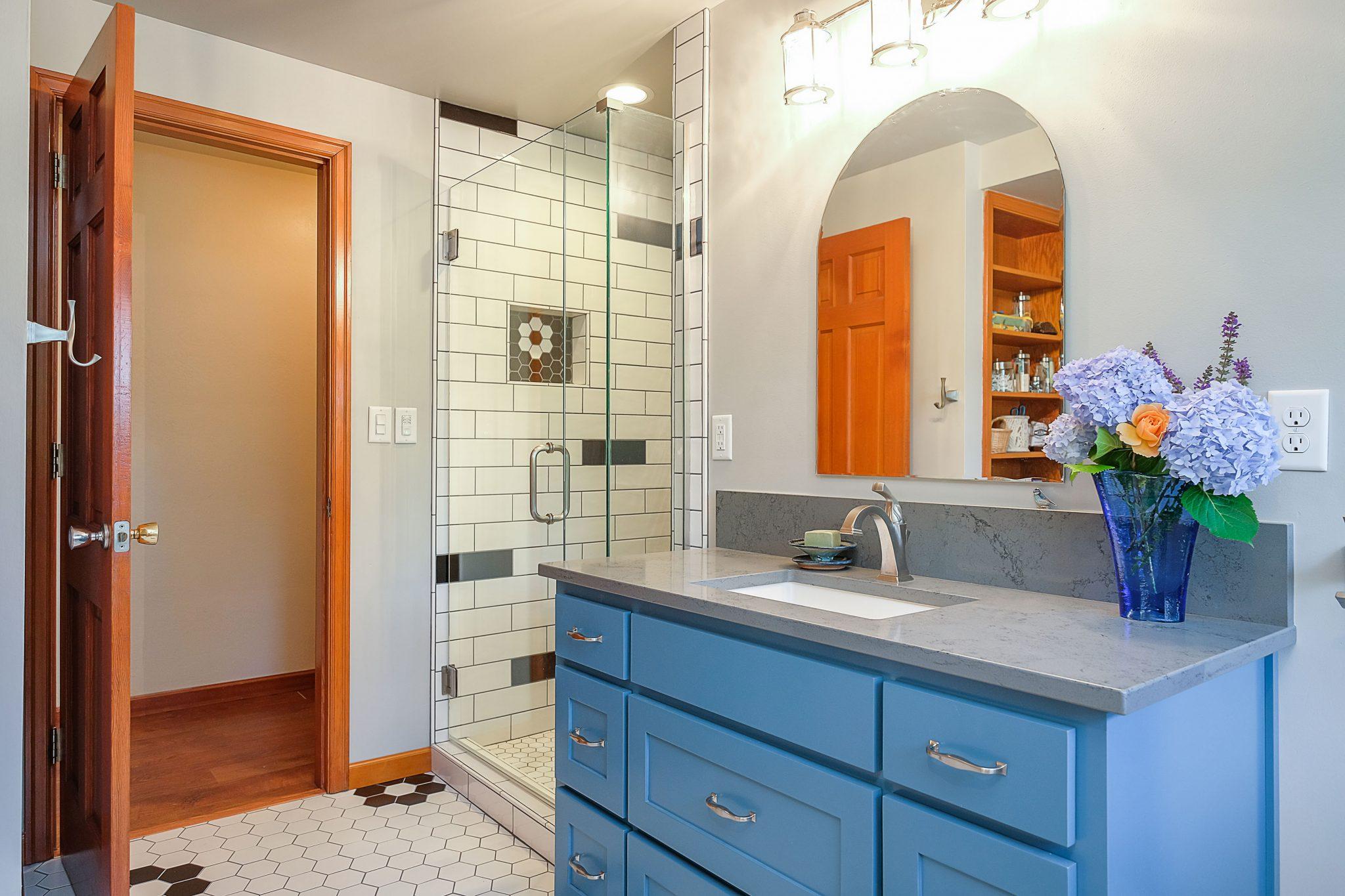 unique tilework bathroom remodel south salem oregon
