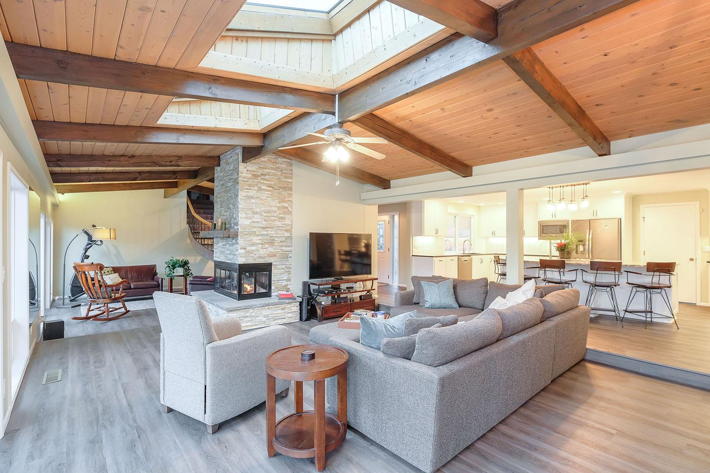 Open Floor Plan Living Space Remodel In Salem Oregon