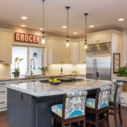 Classic White Kitchen with Modern Accents