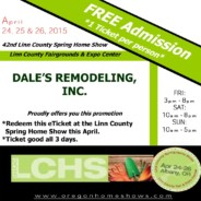 April 24-26 FREE TICKETS at the Albany Spring Home Show